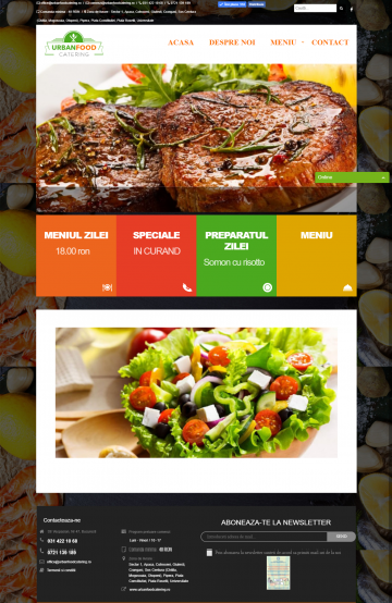 Website for Home Delivery Restaurant - Urban Food Catering