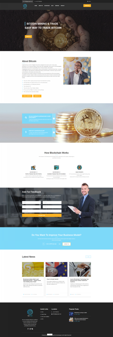 Presentation website for cryptocurrency – Uppcrypto