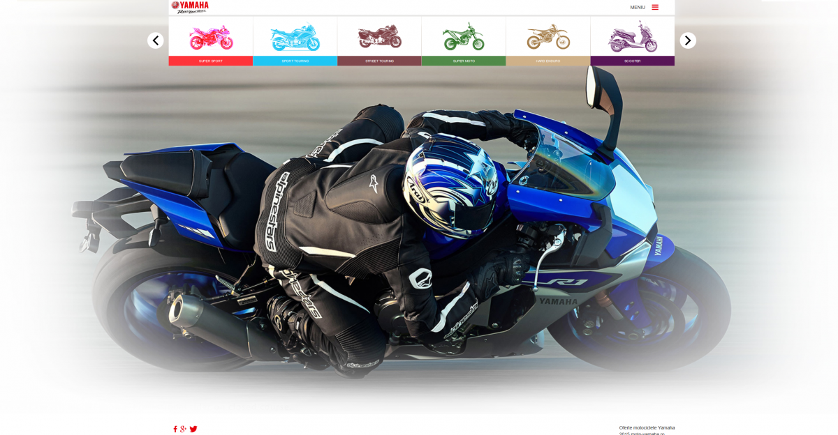 Overview Website - Yamaha Motorcycles