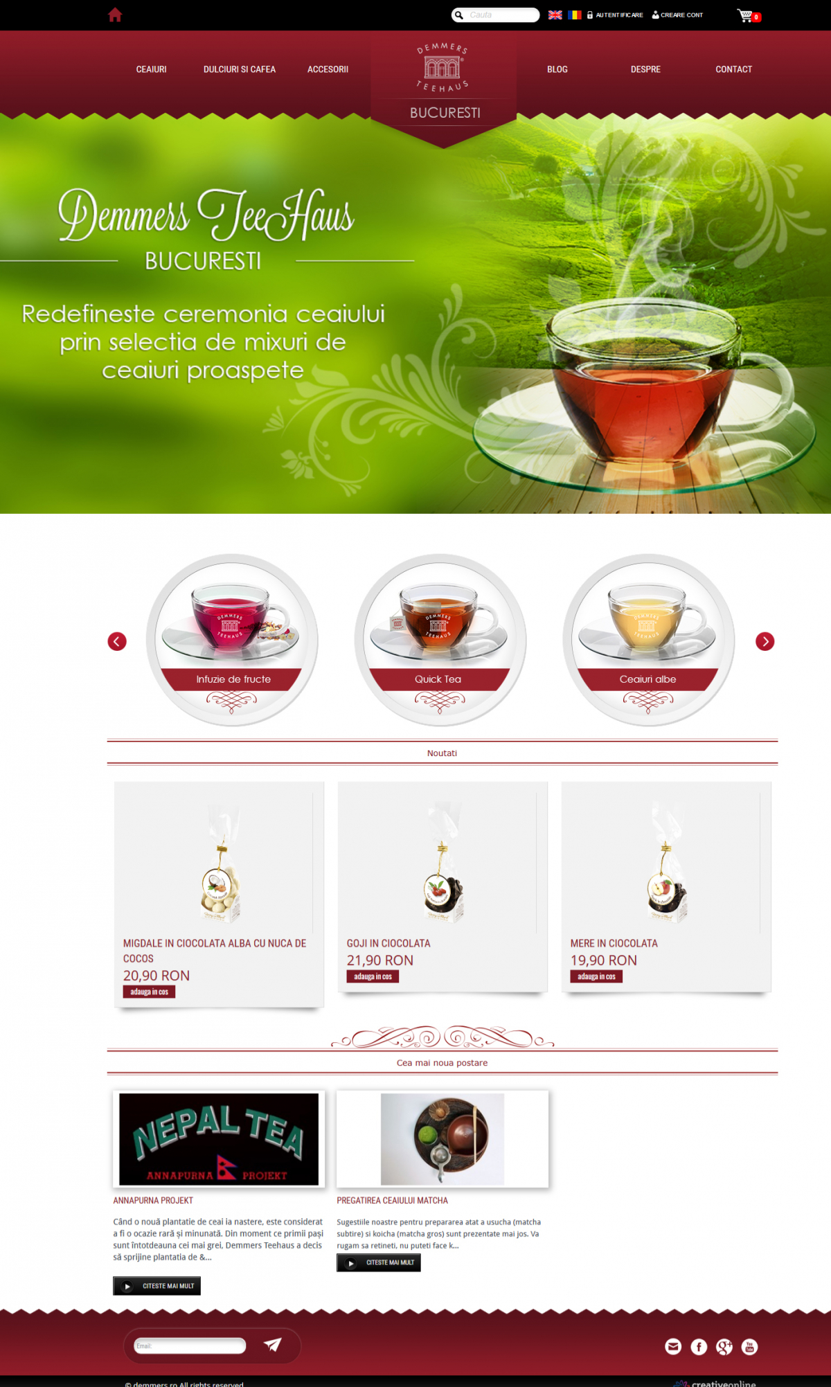 Online shop for tea selling - Demmers Teehaus