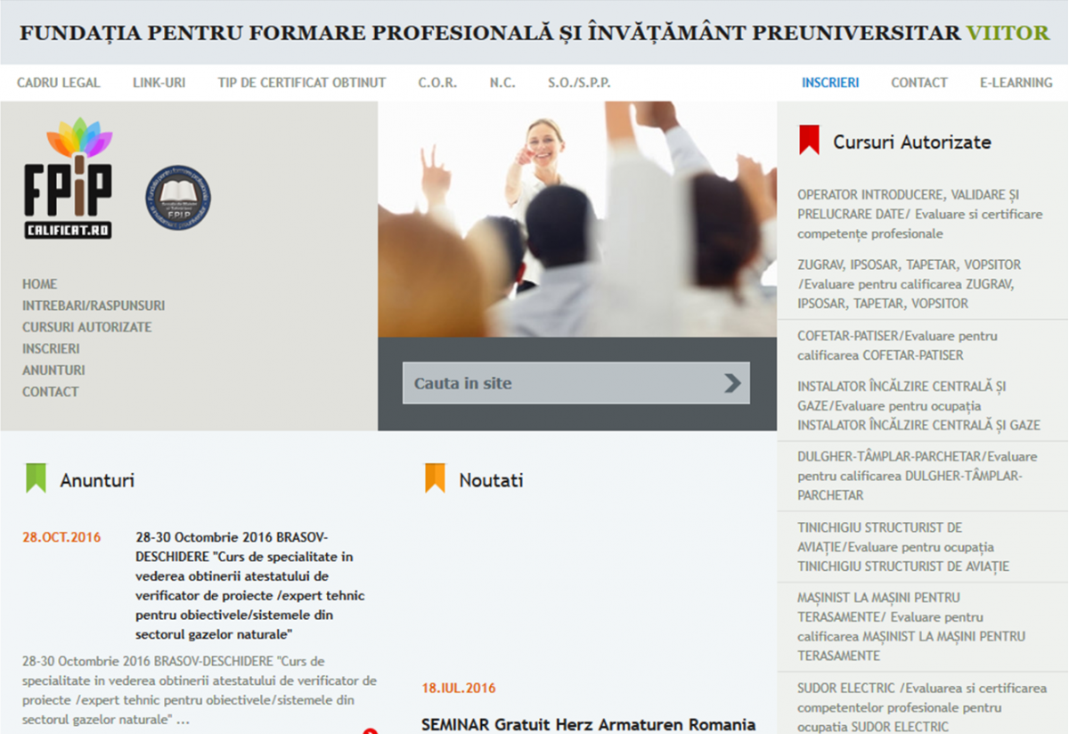 Evidenta Cursanti si Materiale de Training - Calificat