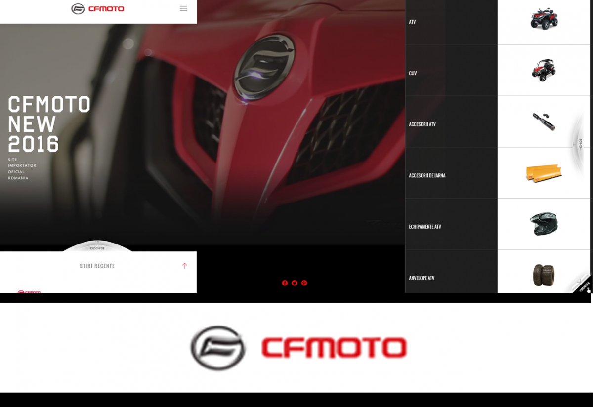 ATV CF MOTO Presentation Website