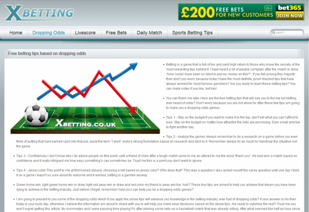 Automatically system for betting odds calculation