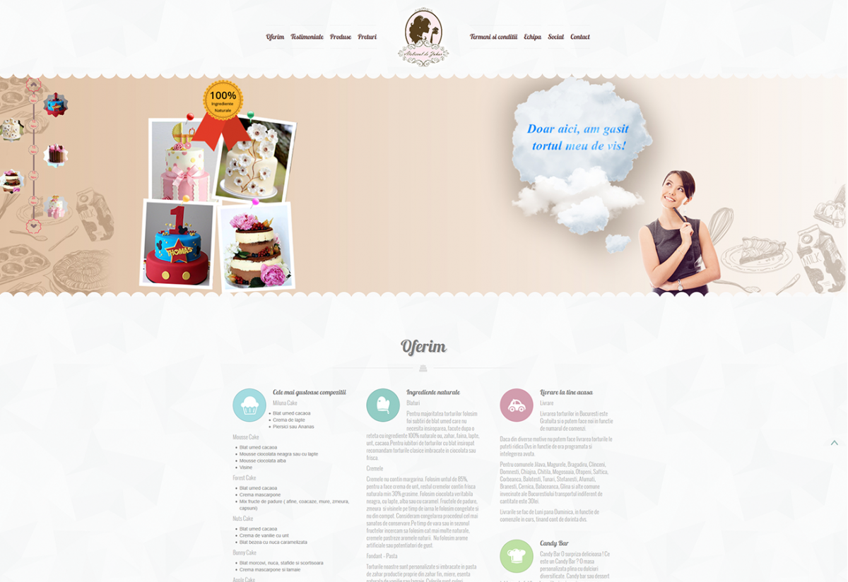 Workshop website - Atelierul de Zahar