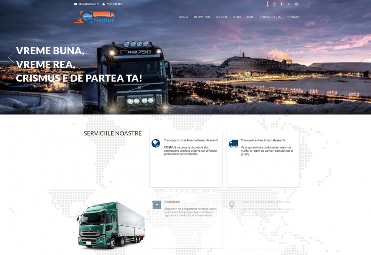 Website de prezentare Firma de Transport - Crismus