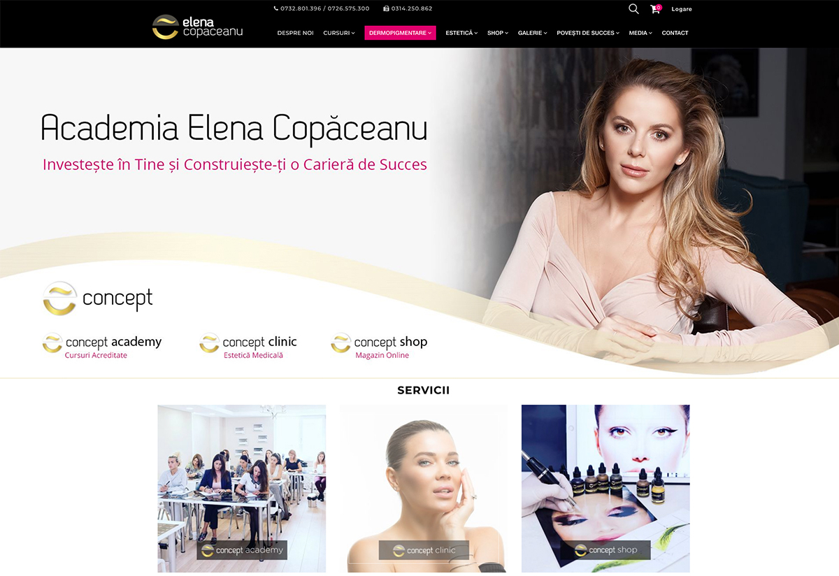E-Concept: Online Beauty Store linked with Android & iOS Mobile App