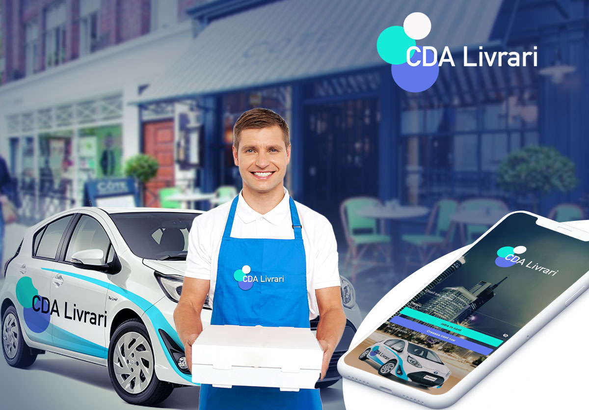 Food delivery app for restaurants – CDA Livrari