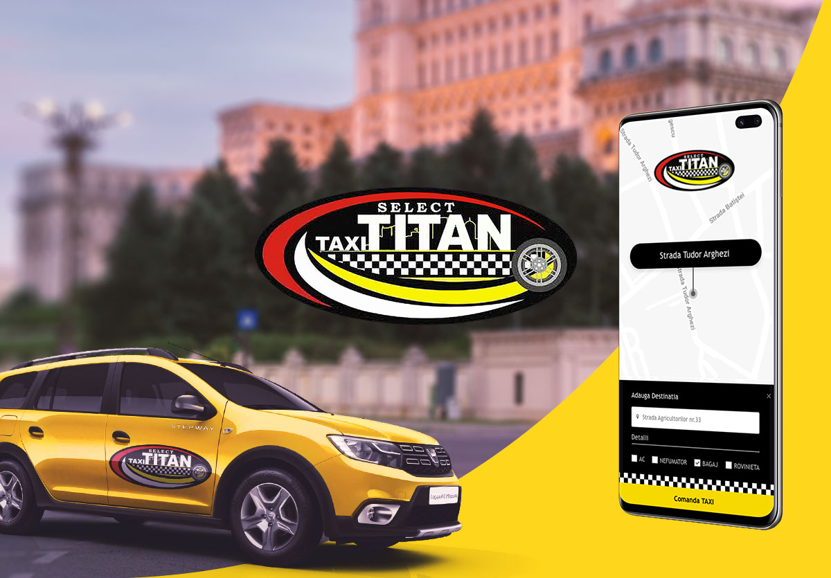 Mobile Android & iOS app for ordering a taxi - TAXI TITAN