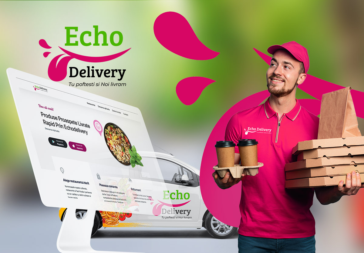Echo Delivery - Website de prezentare dedicat aplicatiei de mobil si restaurantelor inrolate