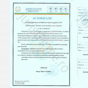 Autorizatia de Functionare în Sectorul 2
