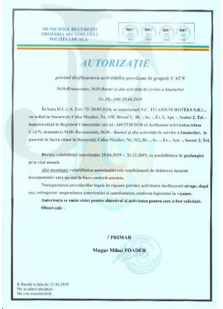 Autorizația de Funcțiionare Sector 2
