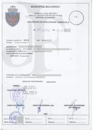 Autorizația de Funcționare Sector 3