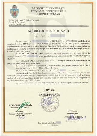 Acord de Funcționare Sector 5