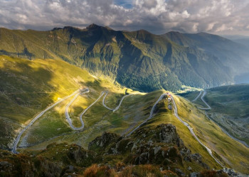 What are some of Romania's most scenic roads?