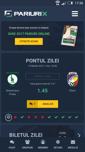 Online Betting Mobile Application for Android & iOS - PariuriX