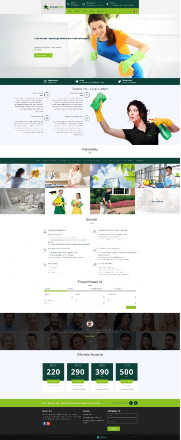 Presentation Website Cleaning Services - GreenStar Services