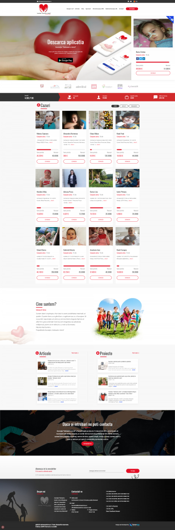 Presentation website for charitable Association 'Salveaza o inima'