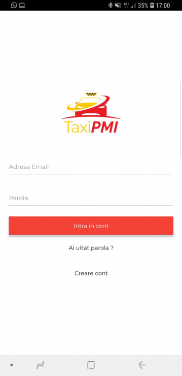 Mobile Android & iOS application for taxi orders - PMI Taxi