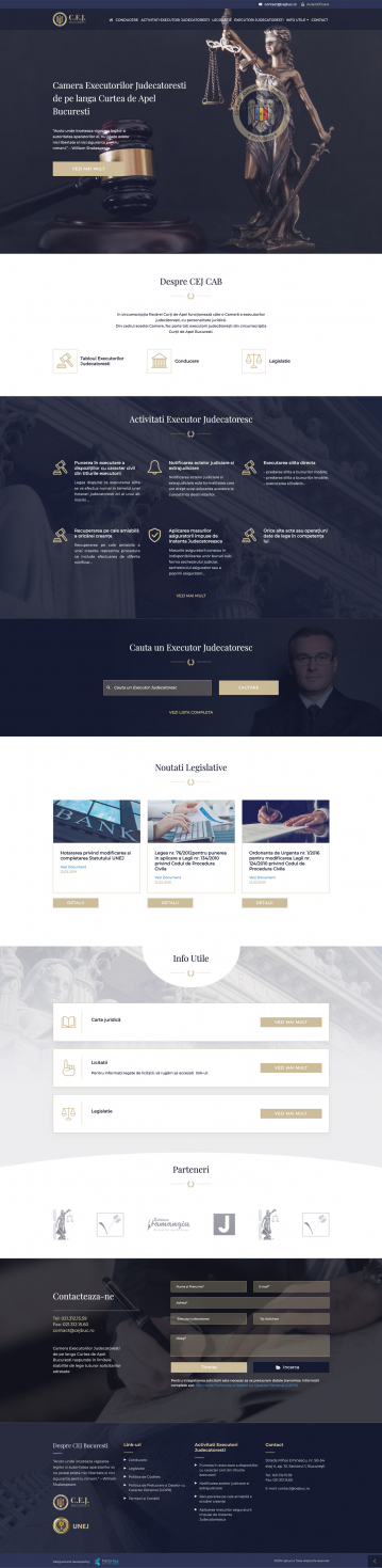 Website & Web App - CEJ Bucharest