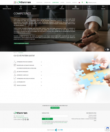 Eutron – Website for presentation and administration company services