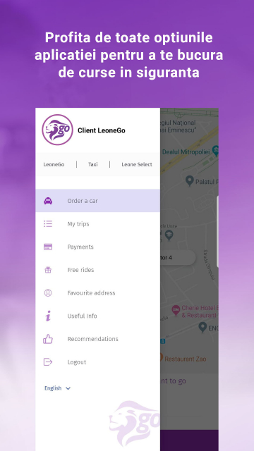 LeoneGo - Aplicatie Mobile iOS & Android Ridesharing