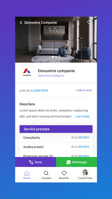 Mesterul Casei - Android and iOS Mobile App for Listing Ads