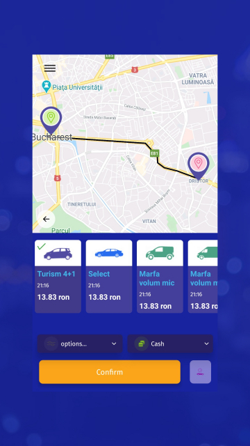 Jumbo Drive - Aplicatie Android & iOS Ride Sharing