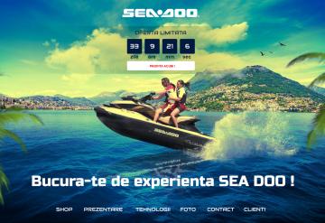 Portofoliu Magazin online comercializare skijet-uri - Sea Doo