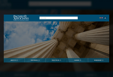 Portofolio  Presentation Website of the Law Office - Pachiu & Associates
