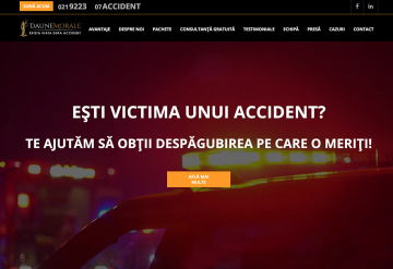 Portofoliu Website de Prezentare Firma Despagubiri Asigurari – Daune Morale