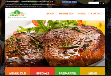Portofolio Website for Home Delivery Restaurant - Urban Food Catering