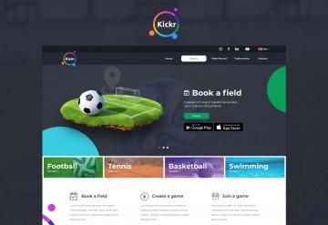 Portofoliu Kickr – Landing Page pentru prezentare Aplicatie Mobile