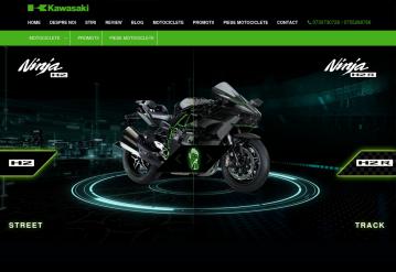 Portofoliu Site Prezentare Motociclete Kawasaki