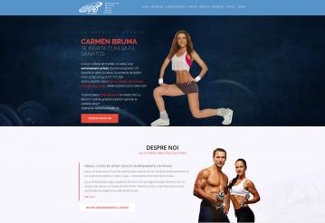 Portofoliu Website de prezentare Fitness - APPS Fit Studio