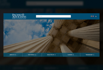 Portofoliu Website de Prezentare Casa de Avocatura - Pachiu si Asociatii