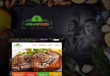 Portofoliu Website de Prezentare Restaurant cu Livrare la Domiciliu - Urban Food Catering