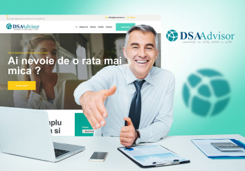 Portofoliu Website de Prezentare Companie de Consultanta Financiara – DSA Advisor
