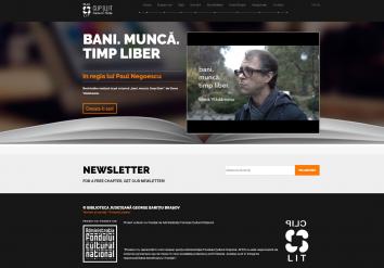 Portofoliu Dezvoltare Website Booktrailere - Proiect Cultural 'CLIPLIT'
