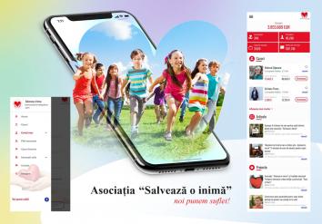 Portofoliu Aplicatie iOS & Android pentru Asociatia  'Salveaza o inima'