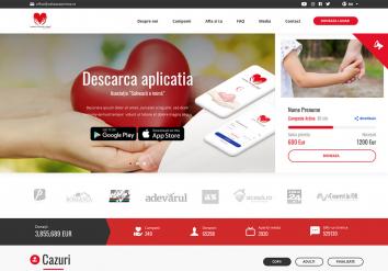 Portofoliu Website de Prezentare Asociatie Umanitara 'Salveaza o inima'