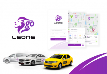 Portofoliu LeoneGo - Aplicatie Mobile iOS & Android Ridesharing