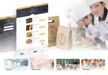 Portofolio Catering Web platform for online orders from Institutions