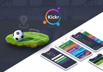 Portofolio KICKR - Android & iOS app for booking sport fields