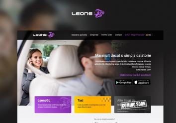 Portofoliu LeoneGo - Landing Page de prezentare pentru Aplicatie Mobile