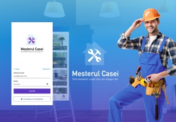 Portofolio Mesterul Casei - Android and iOS Mobile App for Listing Ads