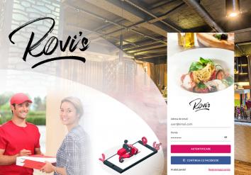 Portofoliu Rovi`s Delivery - Aplicatie Mobile pentru restaurante cu livrare mancare la domiciliu