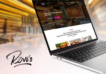 Portofoliu Rovi`s Bar - Landing Page de prezentare Aplicatie Mobile