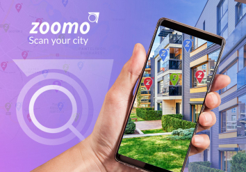Portofoliu Zoomo Scan Your City - Aplicatie Mobile pentru cautare proprietati imobiliare prin Realitate Augmentata
