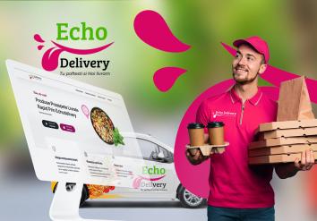 Portofoliu Echo Delivery - Website de prezentare dedicat aplicatiei de mobil si restaurantelor inrolate