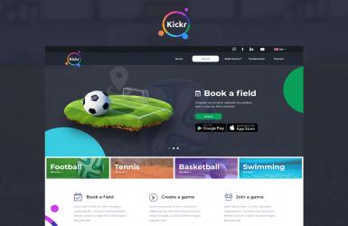 Kickr – Landing Page pentru prezentare Aplicatie Mobile